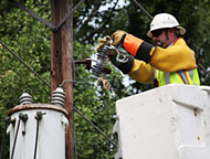 Lineman Making Powerline Repair
