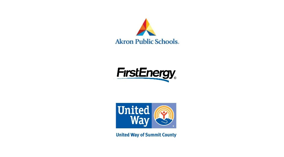 Logos: Akron Public Schools, FirstEnergy and United Way