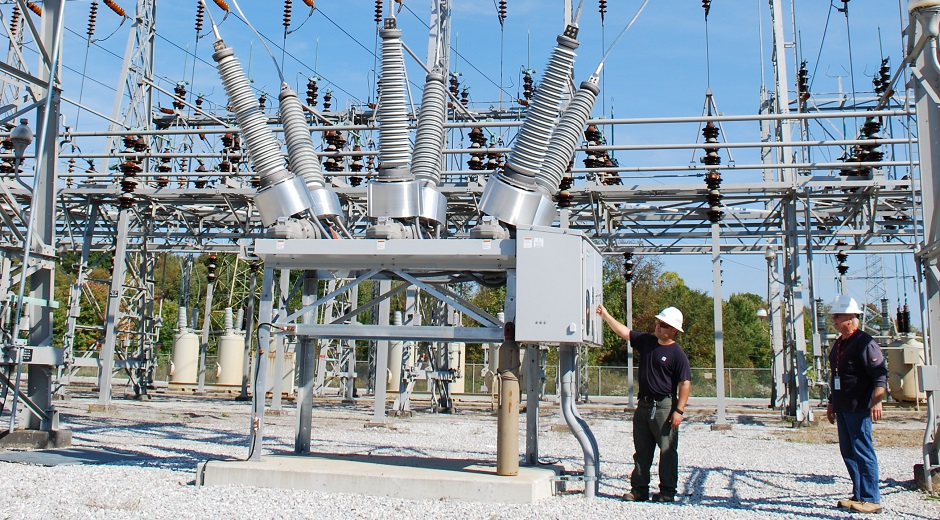 Met-Ed substation perform inspections and maintenance