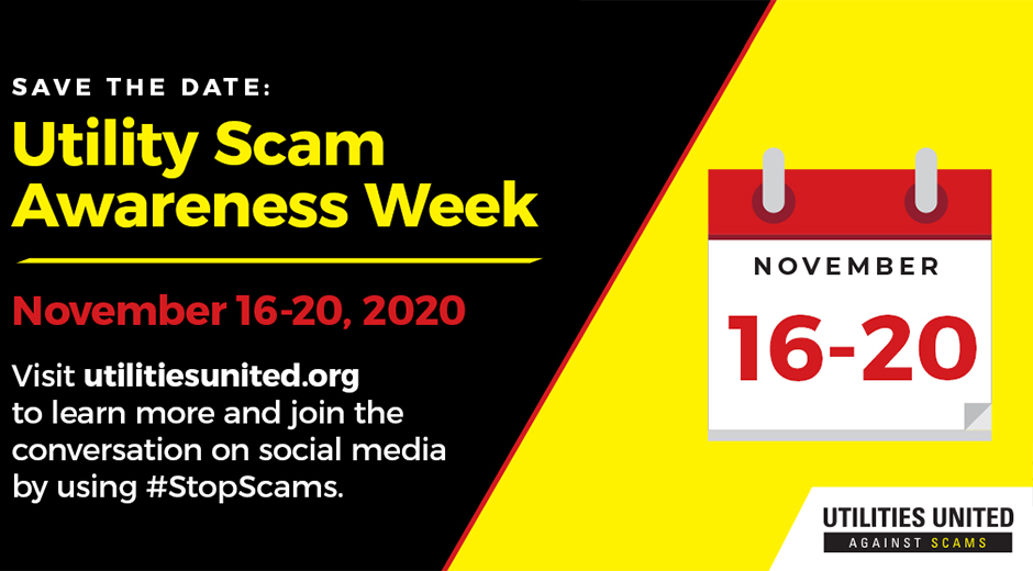 Utility Scam Awareness Week Graphic