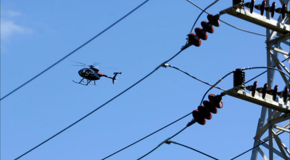 West Penn Power performs helicopter inspections on lines